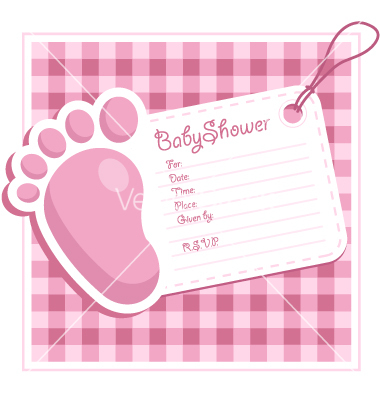 baby shower invitation card vector 711218