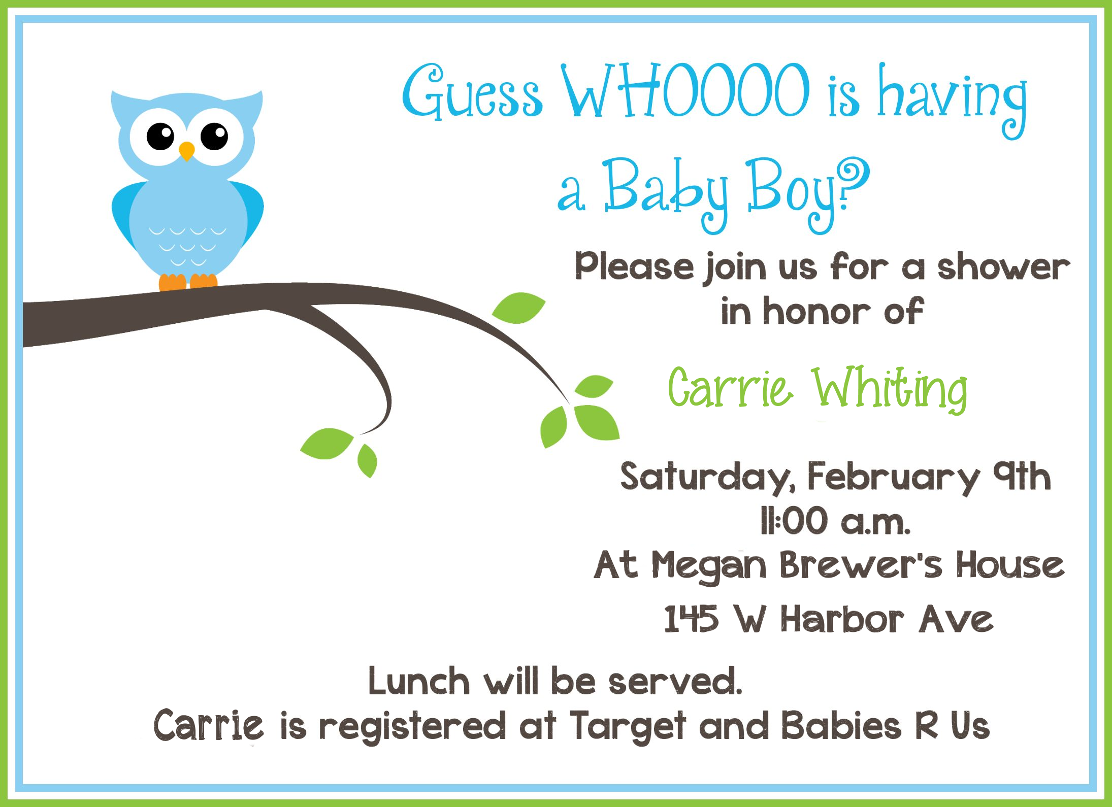 Baby Shower Invitation: Baby Shower Invitation Cards Free Samples