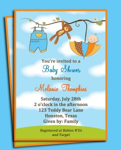 choose to go online and download free baby shower invitation templates