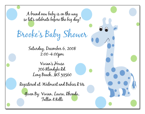 Co-Ed Baby Shower Invitation for perfect invitation template